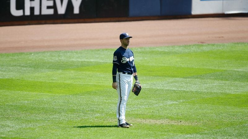 Illustration for article titled Ryan Braun Not About To Look Like An Idiot By Attempting Diving Catch In Outfield