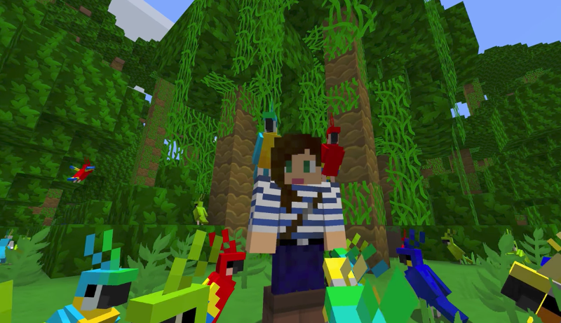 Minecraft Patching Out Controversial Parrot Feeding Mechanic