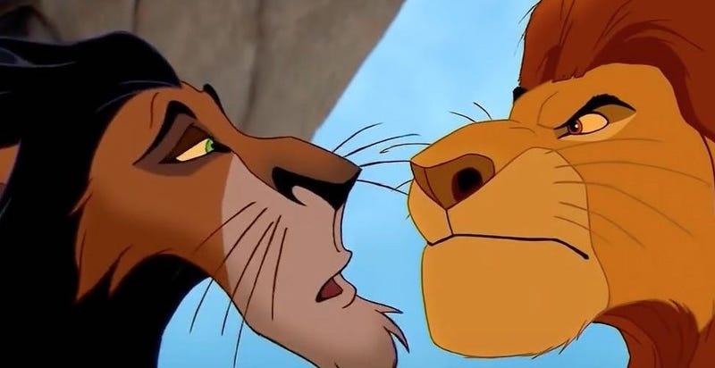 Illustration for article titled Mufasa y Scar en realidad no son hermanos en El Rey León