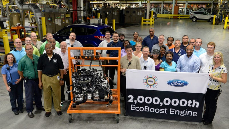 Illustration for article titled Ford Built 2 Million EcoBoost Engines So Far