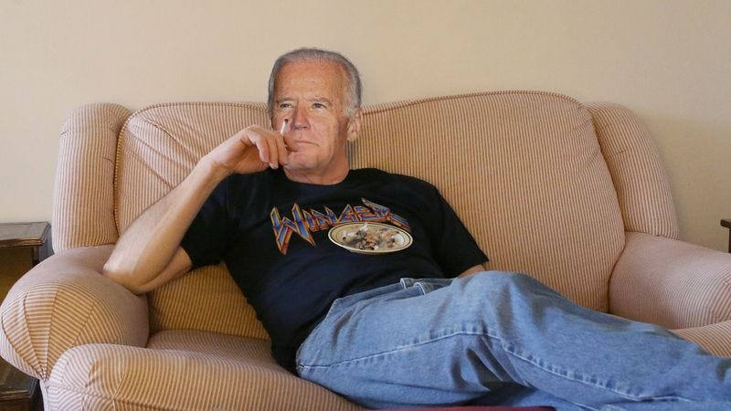 Biden mulls over the prospect of making a fresh start and finally living on the up and up.