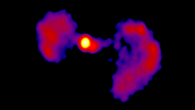 The Core of This Galaxy Far, Far Away Looks Like a TIE Fighter