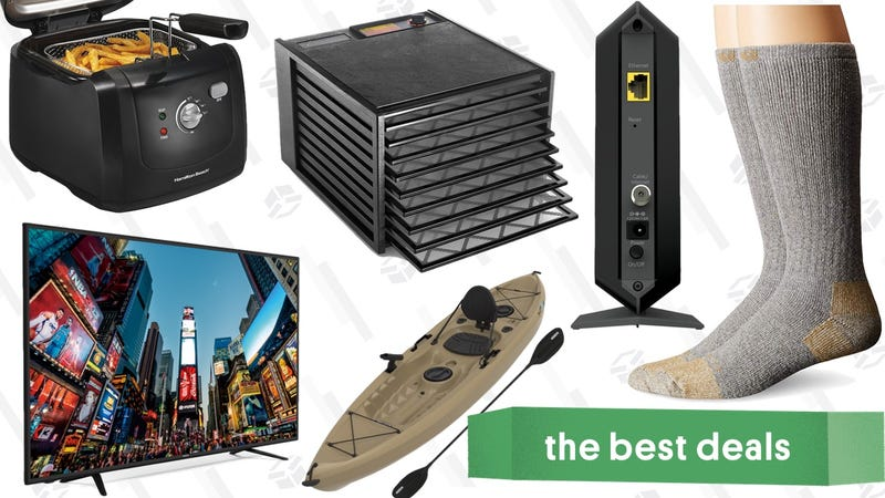 "Illustration for article titled Saturday's Best Deals: 65"" TV, Meat Boxes, Carhartt Socks, and More"