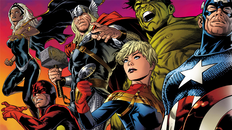 Image: Marvel Comics. Legacy Banner art by Joe Quesada.