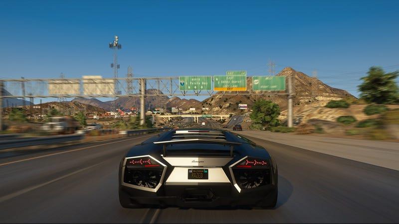 Illustration for article titled El último mod de Grand Theft Auto V tiene mejores gráficos que la vida real