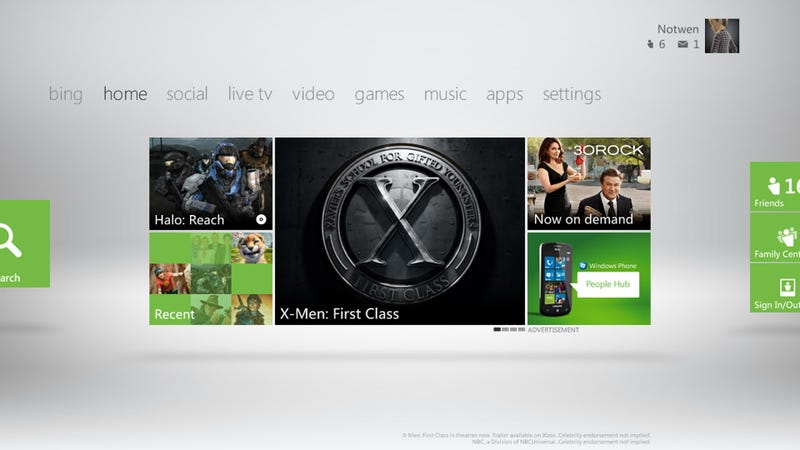 Illustration for article titled Does the New Xbox 360 Dashboard Look Familiar to You?