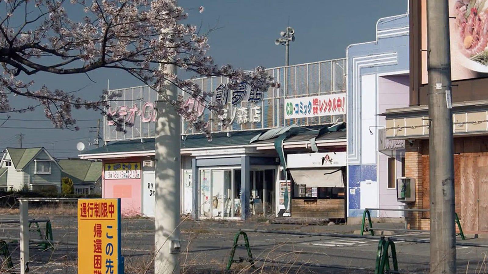 Descubre el escalofriante paisaje de Fukushima, a vista de dron
