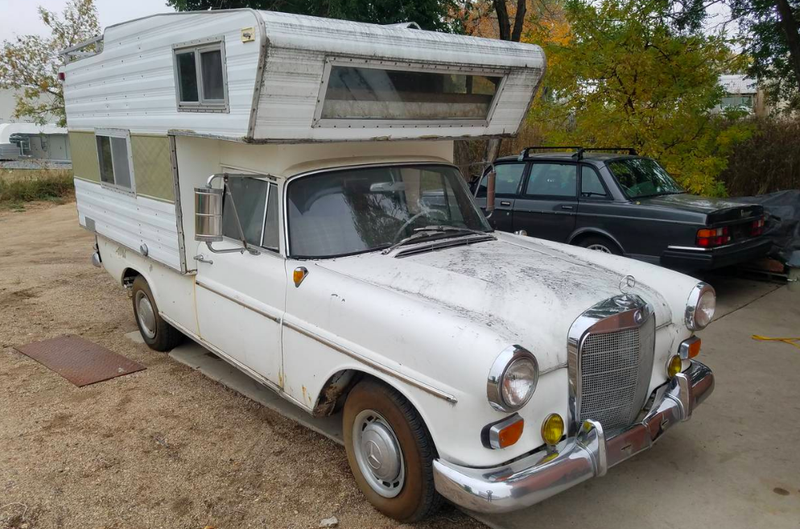 This Mercedes 190D Camper For Sale on Craigslist May Be The