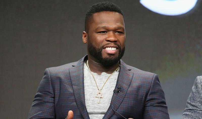 Curtis '50 Cent' Jackson at the TCA's in Beverly Hills. Image: Getty/Frederick M. Brown