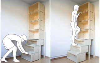 Illustration for article titled StairCASE Stepladder Bookcase