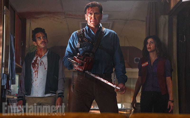 Illustration for article titled Bruce Campbell Is Back As Ash in First Evil Dead TV Show Photo