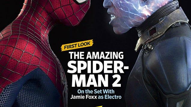 Holy crap Jamie Foxx looks insane as Electro in Amazing ...  Jamie