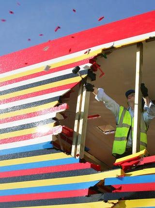 Illustration for article titled James May's Lego House Demolished