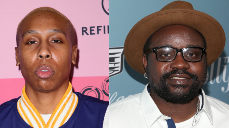 (L-R): Lena Waithe attends Refinery29's 29Rooms Los Angeles 2018: Expand Your Reality at The Reef on December 04, 2018 in Los Angeles, Ca.; Brian Tyree Henry attends The Hollywood Reporter's Power 100 Women In Entertainment on December 5, 2018 in Los Angeles, Ca.