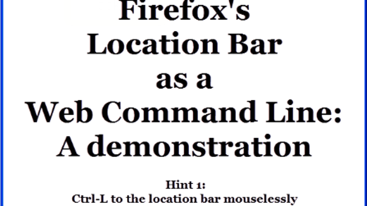 Five Quick Searches That Turn Firefox's Address Bar into a