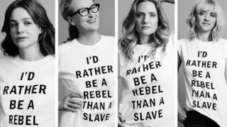 Meryl Streep and herSuffragette co-stars pose in controversial T-shirts for Time Out London.Twitter