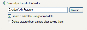 Illustration for article titled Automatically transfer and sort pics when you plug in your camera