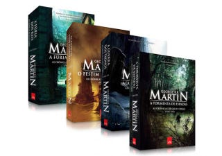 Illustration for article titled If I spoke Portuguese I would buy these George R R Martin books