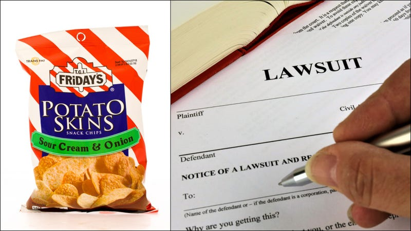 Illustration for article titled Woman sues TGI Fridays, saying potato skins chips aren't really potato skins