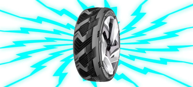 Illustration for article titled Goodyear Has A Concept Tire That Generates Electricity