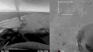 Los 11 años de <i>Opportunity en Marte </i>recogidosen un espectral timelapse