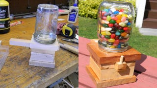 Illustration for article titled Build a Mason Jar Based Snack Dispenser