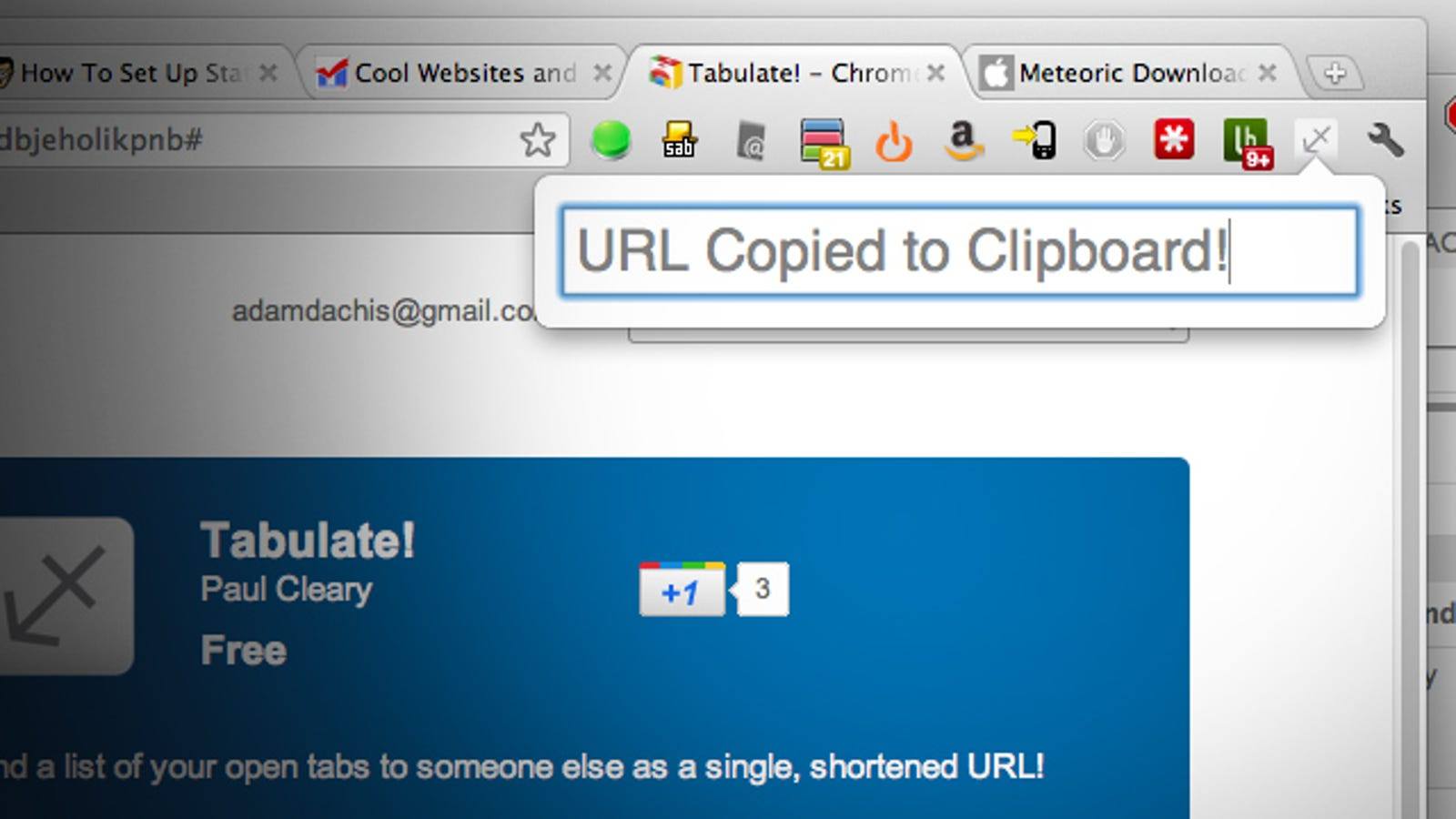 Tabulate Turns All Your Chrome Browser Tabs Into A Single Url