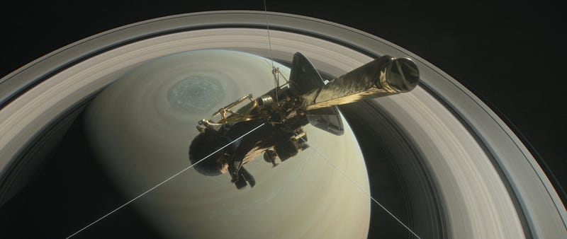 Illustration for article titled Cassini's Final Dives Will Take Us Where No Spacecraft Has Gone Before