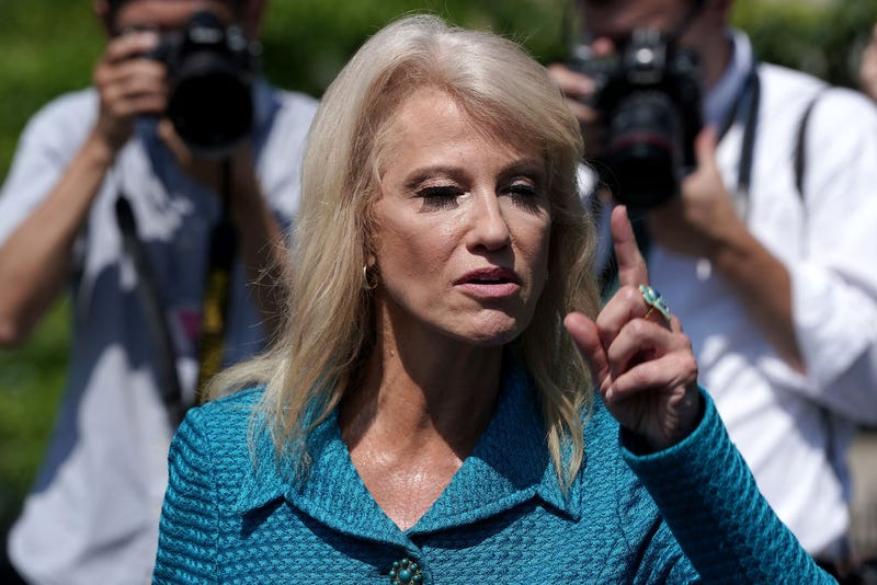 Illustration for article titled Kellyanne Conway Goes on Unhinged Rant and Asks Reporter 'What's Your Ethnicity?'