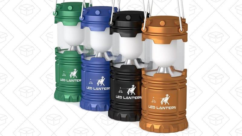 4-Pack MalloMe LED Camping Lanterns | $16 | Amazon