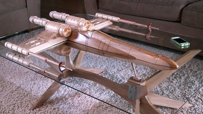 Illustration for article titled Star Wars Fans Prepare For an Intergalactic War Over This Stunning X-Wing Coffee Table (Updated)