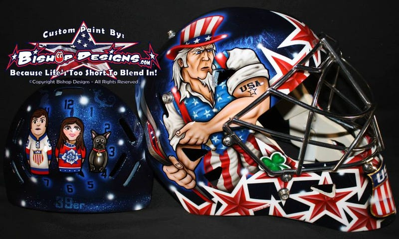 Illustration for article titled Ryan Miller's Olympic Mask Unveiled