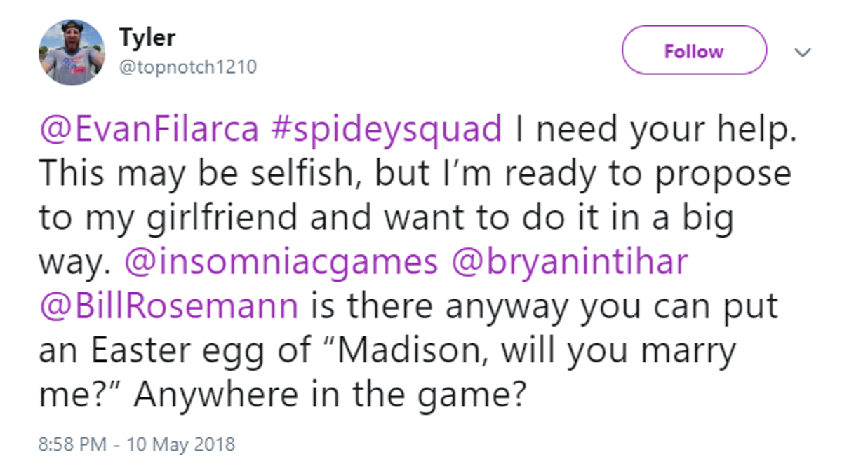 Wedding Proposal Hidden In Spider-Man Unravels, May Be Patched Out