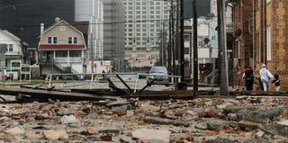 Hurricane Sandy severely damages Atlantic City, N.J. (Mario Tama/Getty Images)