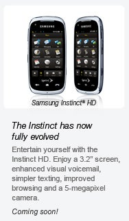 Illustration for article titled Sprint Announces Samsung Instinct HD (By Mistake?)