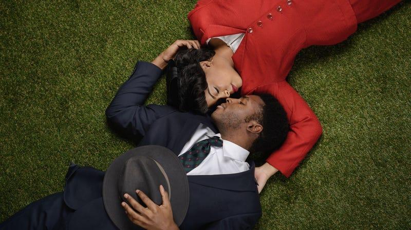 Ayanna Bria Bakari as Evelyn Brandon (top) and Jalen Gilbert as Bowzie Brandon