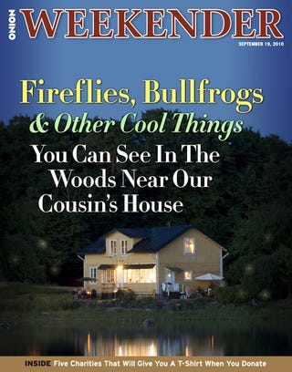 Illustration for article titled Fireflies, Bullfrogs And Other Cool Things You Can See In The Woods Near Our Cousin's House