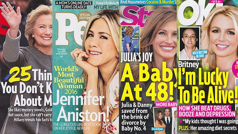 Illustration for article titled This Week In Tabloids: Jennifer Aniston Is More Beautiful and More Powerful Than El Niño