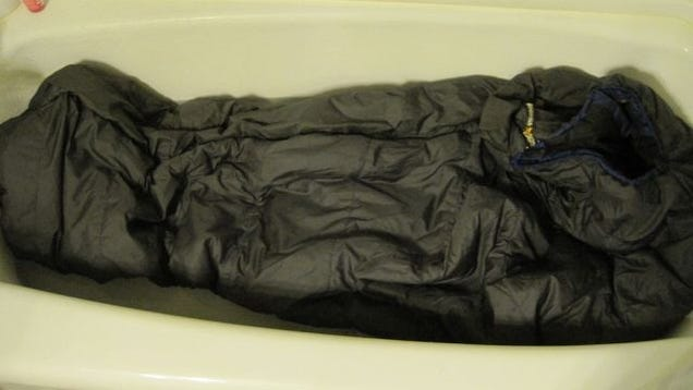 Keep Your Sleeping Bag in Good Shape by Hand Washing in Your Bathtub