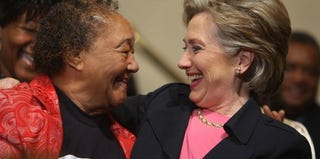 Hillary Clinton greeted by a supporter back in 2008 (Robyn Beck/AFP/Getty Images)