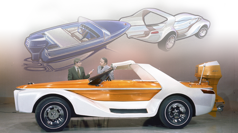 Illustration for article titled Meet the Car That Gave Birth to a Boat
