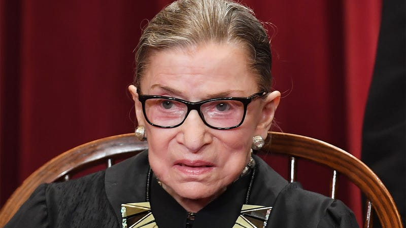 Illustration for article titled Worst Possible Timing: Ruth Bader Ginsburg's Aides Are Desperately Trying To Talk Her Out Of Teaching Herself To Do A Front Flip
