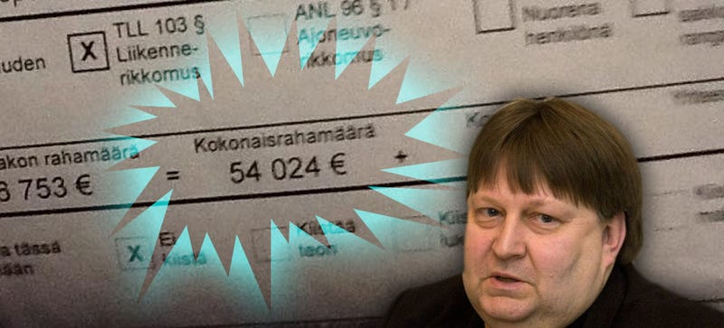 Illustration for article titled Finland Gives Driver A $60,000 Speeding Ticket