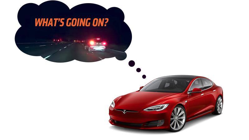 Illustration for article titled Moist, Warm Human Brain Saves Tesla's Ass When Autopilot Almost Wrecks
