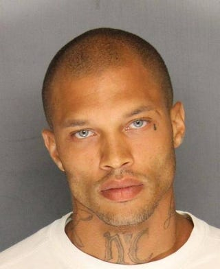 Jeremy Meeks' police booking photo after his arrest on felony weapon charges June 18, 2014, in Stockton, Calif. Stockton Police Department/Getty Images