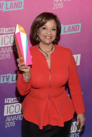 Debbie Allen poses backstage with her Icon Award at the 2016 TV Land Icon Awards on April 10, 2016, in Santa Monica, Calif.Jason Kempin/Getty Images for TV Land