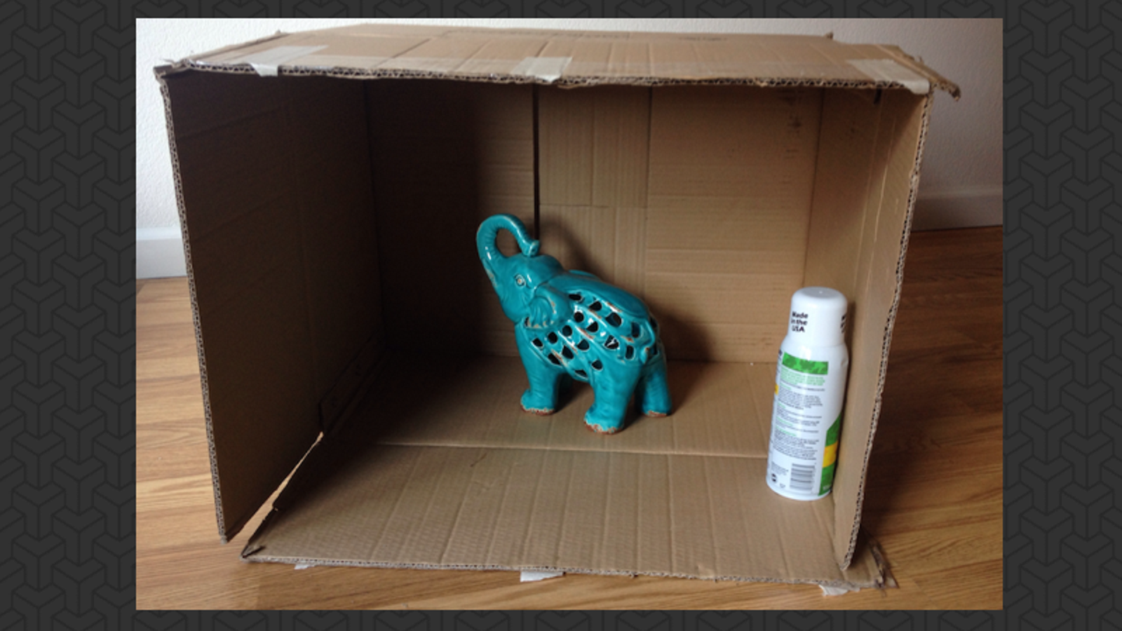 Use A Box To Spray Paint Small Items With No Mess