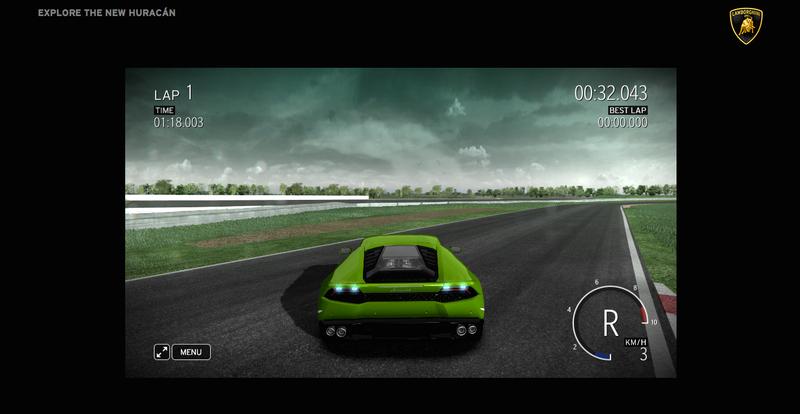 "Illustration for article titled ""Test Drive"" The New Lamborghini Huracan on this Fun Flashgame"