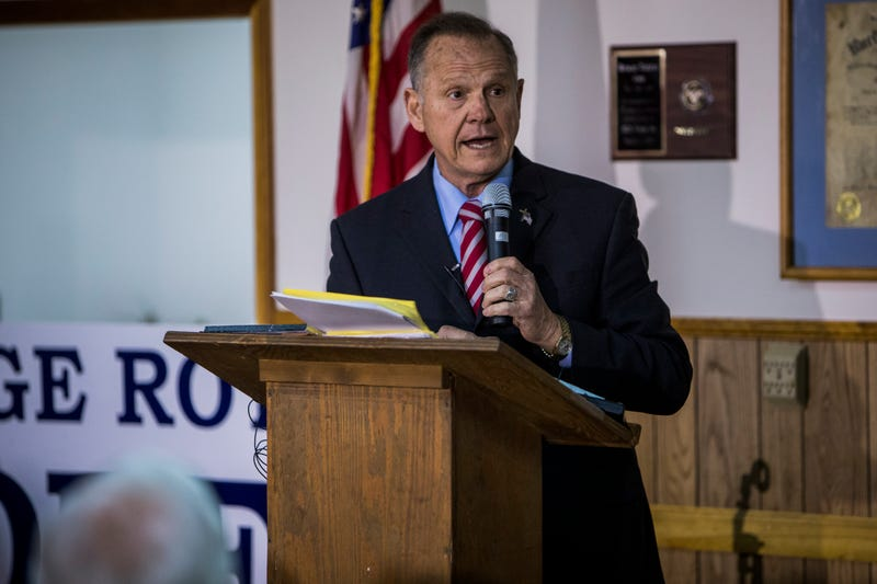 Roy Moore holds a campaign rally on Nov. 27, 2017, in Henagar, Ala.  (Joe Buglewicz/Getty Images)