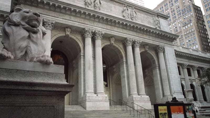 Inside The New York Public Library (Screenshot: YouTube)